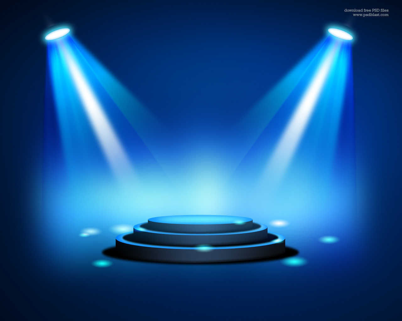 Stage Lighting Background with Spot Light Effects (PSD) | Psdblast for Spotlight Effect Stage Png  287fsj